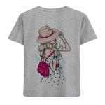 تی شرت دخترانه مدل آستین کوتاه دختر M54