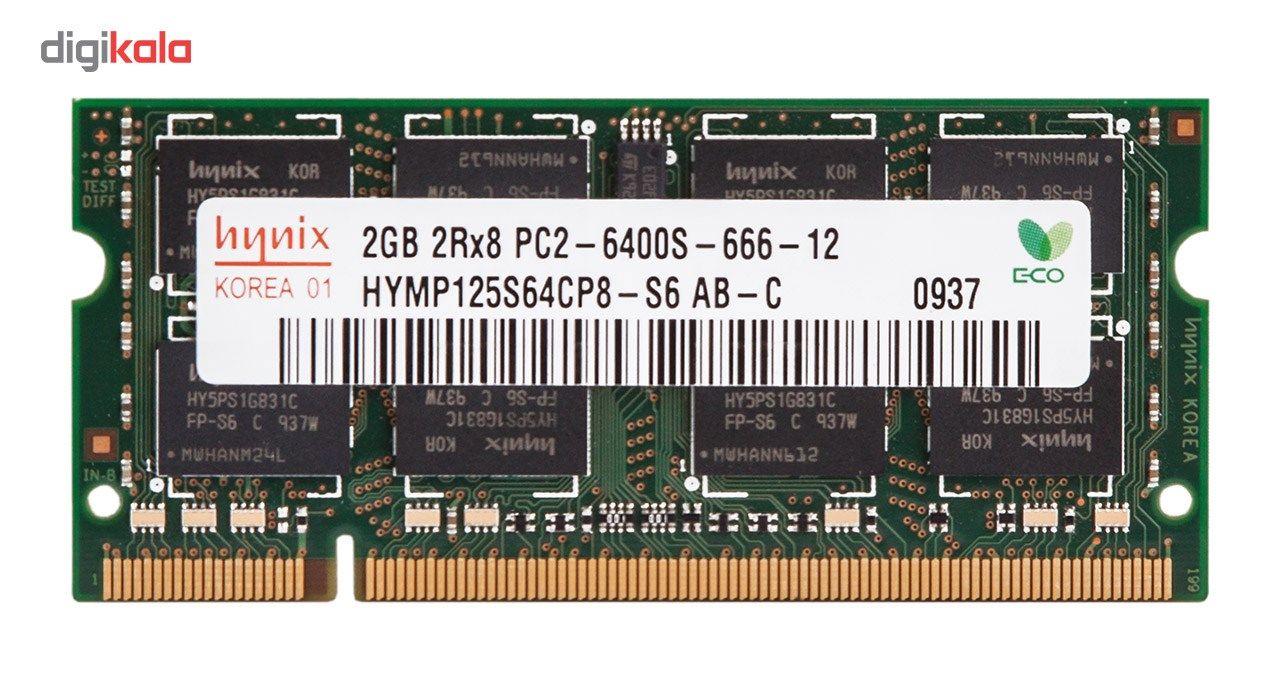 رم لپ تاپ هاینیکس مدل DDR2 6400s MHz ظرفیت 2 گیگابایت main 1 1