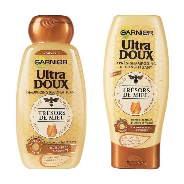 پک شامپو و نرم کننده گارنیه سری Ultra Doux مدل Honey حجم 250 ملی لیتر