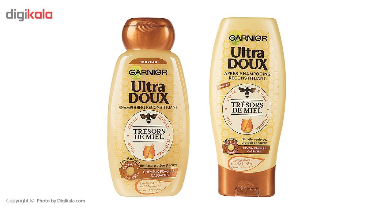 پک شامپو و نرم کننده گارنیه سری Ultra Doux مدل Honey حجم 250 ملی لیتر main 1 1