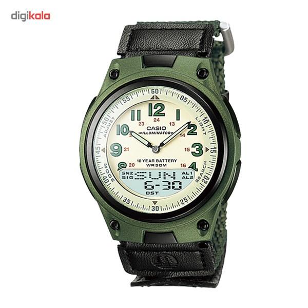 خرید ساعت مچی عقربه ای مردانه کاسیو AW-80V-3BVDF | ساعت مچی