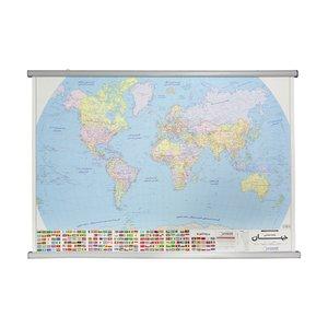 نقشه سیاسی جهان گیتاشناسی نوین کد ۱۲۹۷