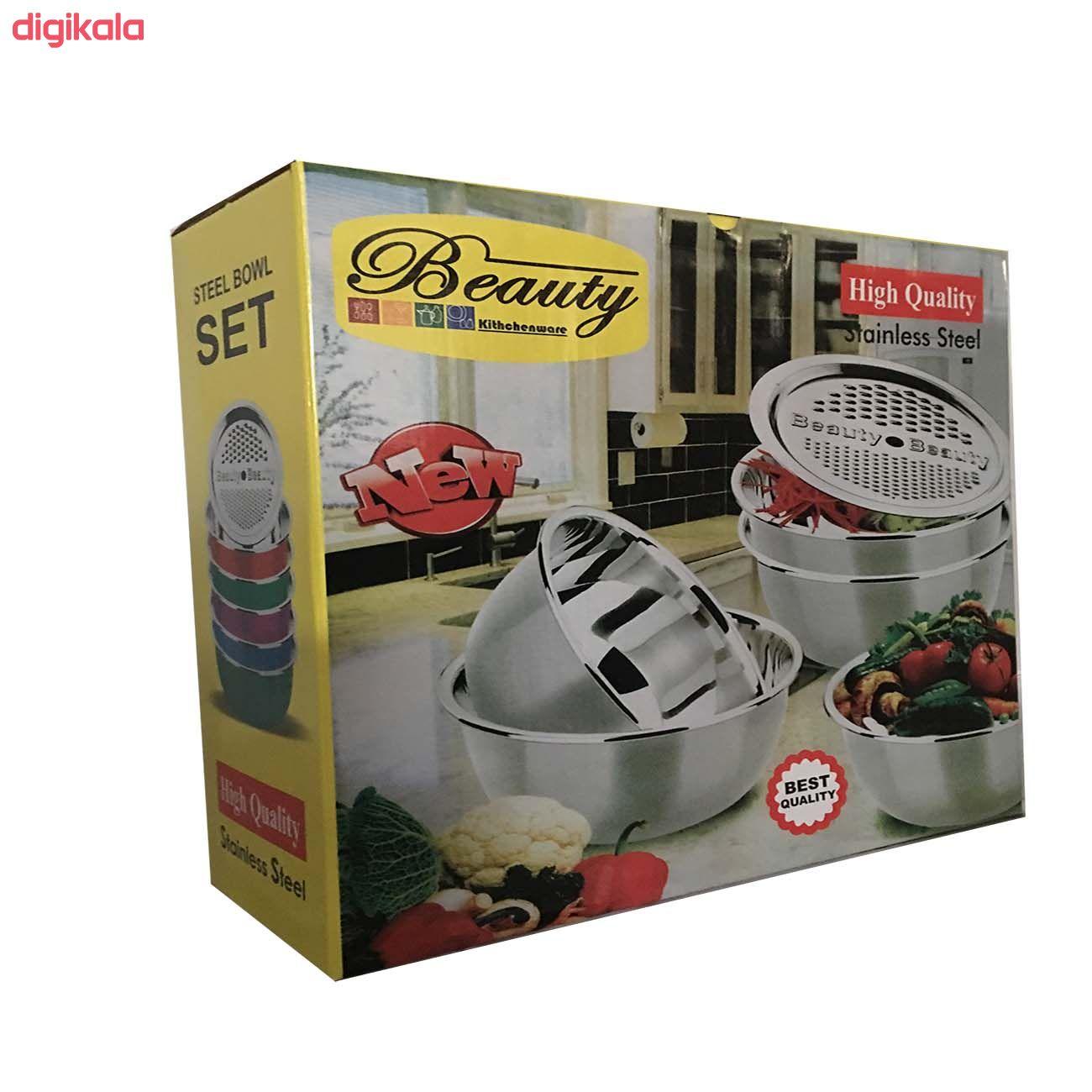 لگن آشپزخانه بیوتی مدل 5515 مجموعه 5 عددی  main 1 2