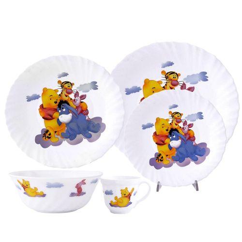 سرویس غذاخوری 5 پارچه کودک پارس اوپال طرح Pooh