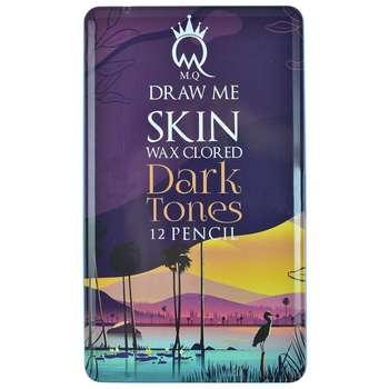 مداد رنگی 12 رنگ ام کیو مدل Dark SKIN