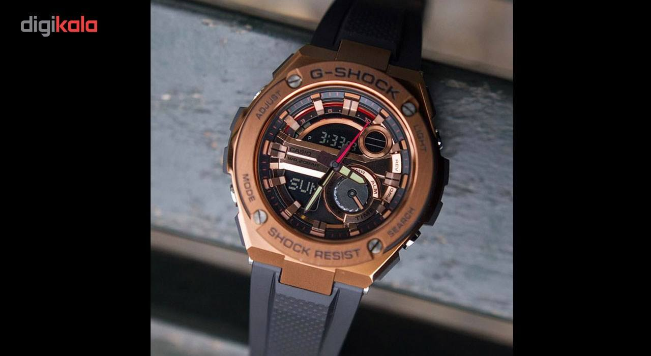 ساعت مچی عقربه ای مردانه کاسیو مدل GST-210B-4A -  - 4