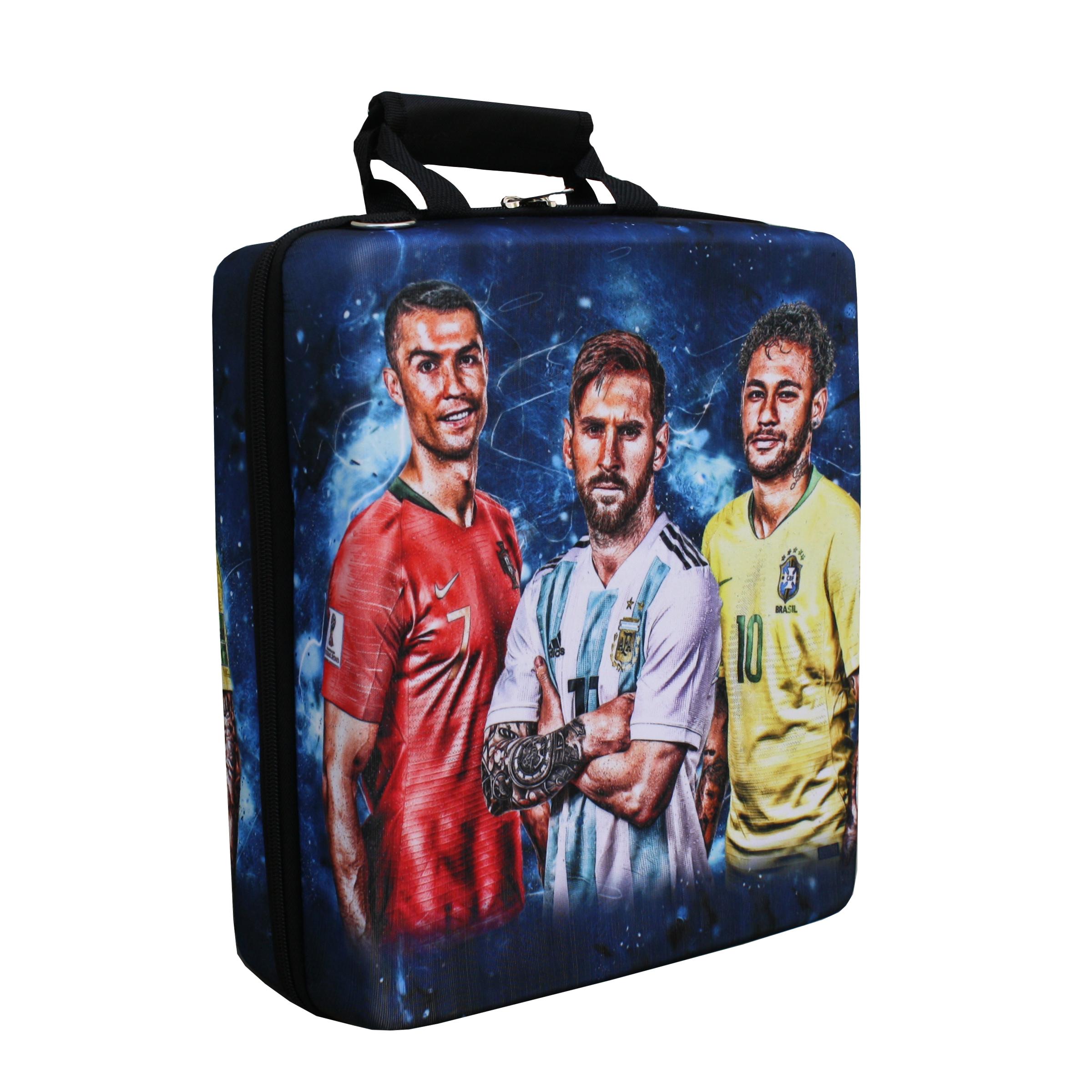 کیف حمل کنسول پلی استیشن 4 مدل neymar messi ronaldo کد 1004