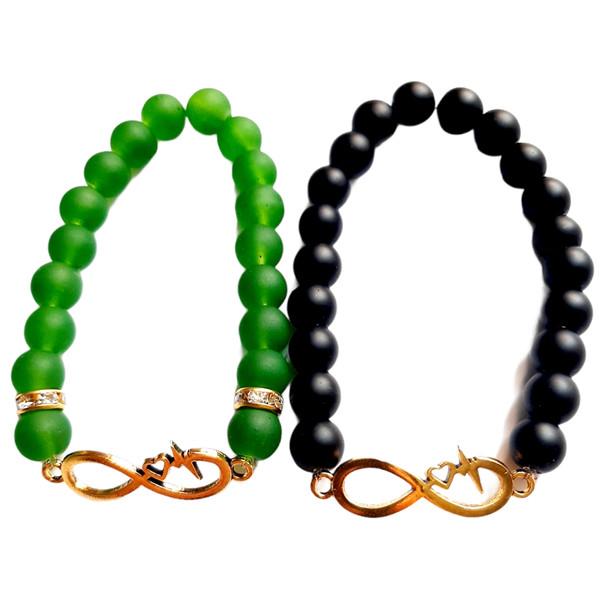 دستبند طرح بی نهایتکد AL_BKHRD مجموعه 2 عددی