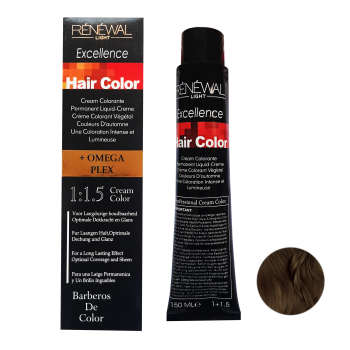 رنگ مو رنوال شماره 5.00 حجم 150 میلی لیتر رنگ قهوه ای روشن قوی