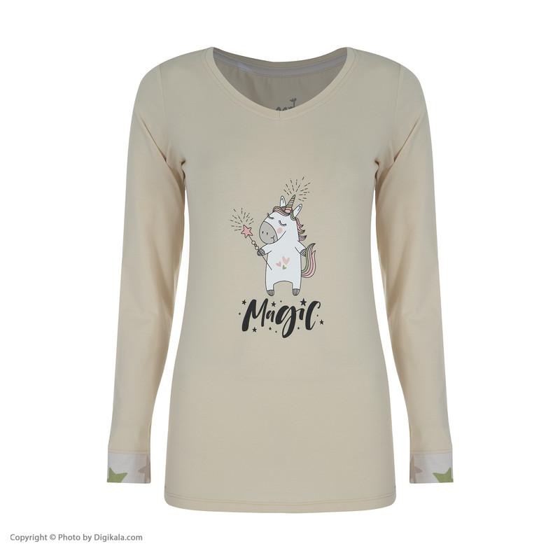 ست تی شرت و شلوار راحتی زنانه ناربن مدل 1521242-07