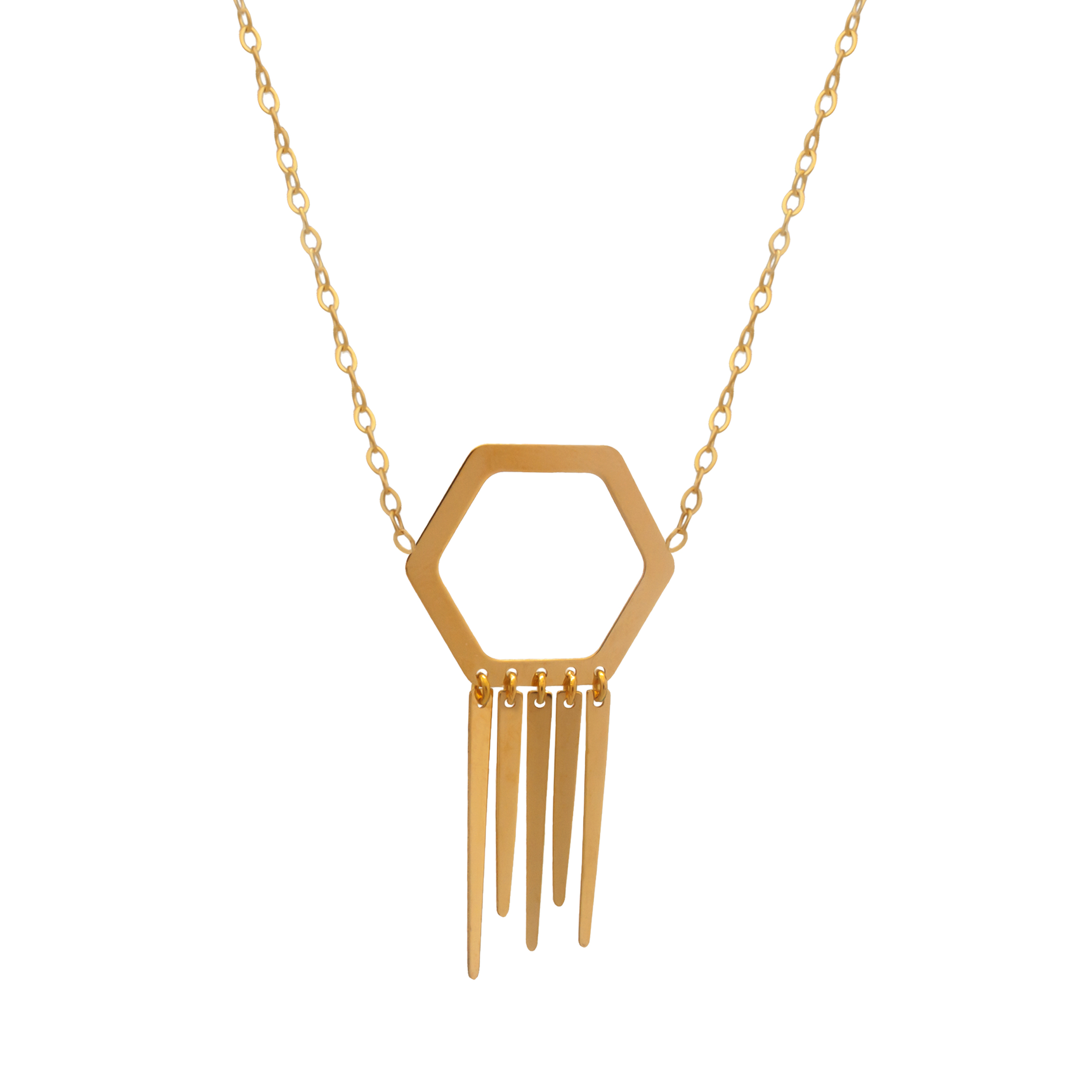 گردنبند طلا ۱۸ عیار زنانه دًرج مدل DP37
