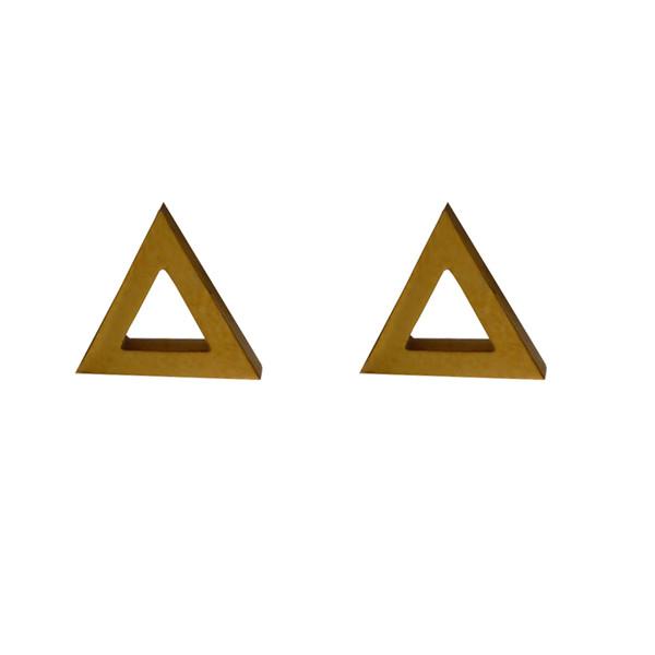 گوشواره زنانه طرح مثلث کد 018