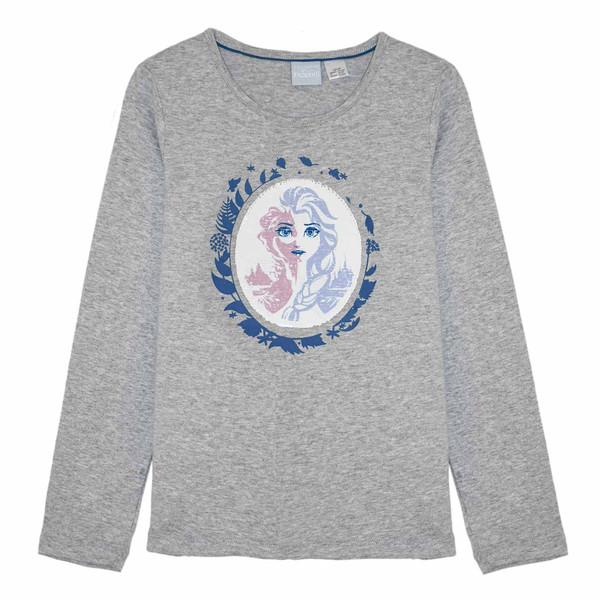 تی شرت آستین بلند دخترانه دیزنی مدل  LU-322800
