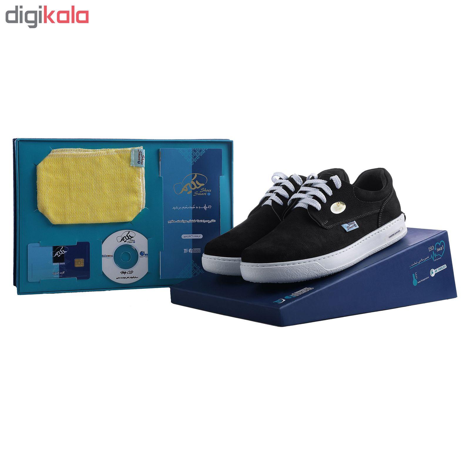 کفش روزمره هوشمند مردانه حکیم مدل T5 رنگ مشکی -  - 3