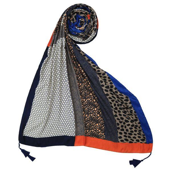 شال زنانه مدل نخ ابریشم منگوله دار چهل تیکه کد 0021