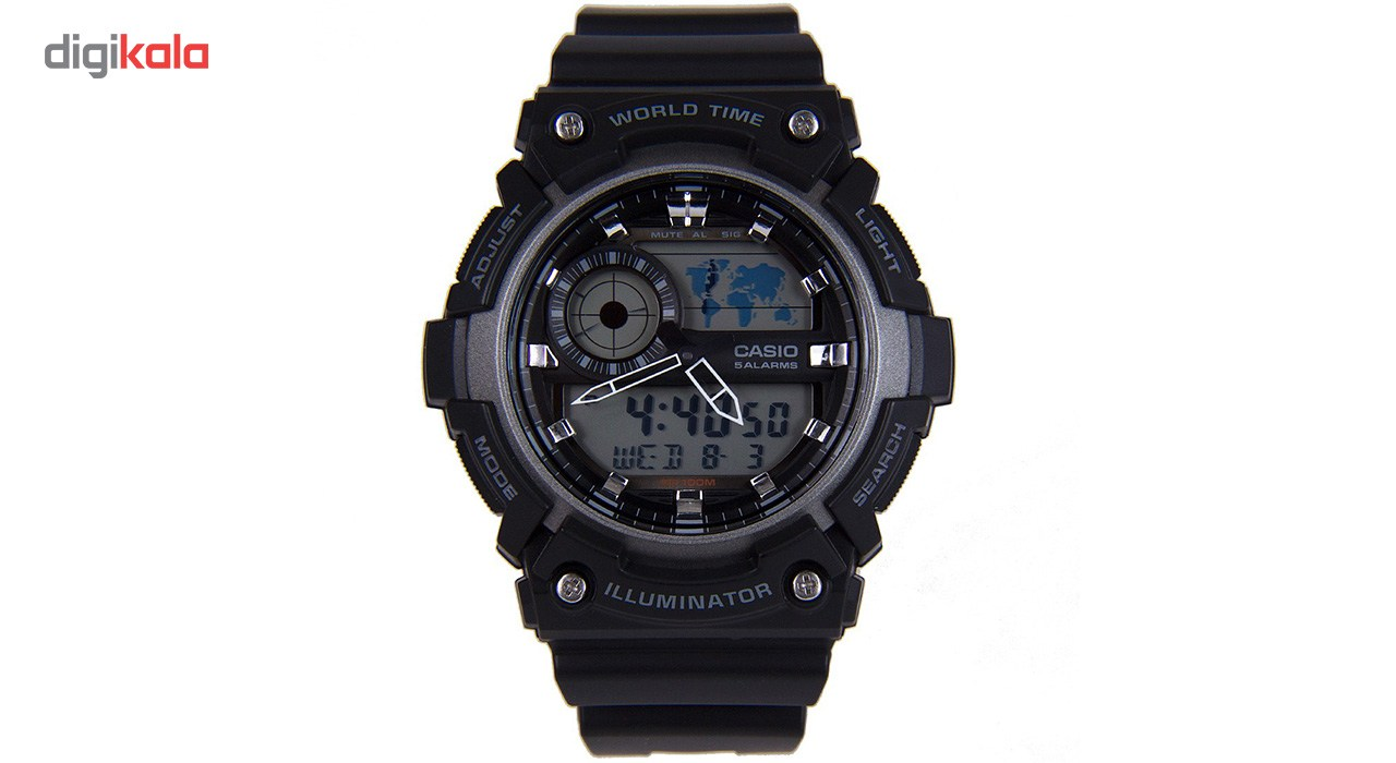 خرید ساعت مچی عقربه ای مردانه کاسیو مدل AEQ-200W-1AVDF