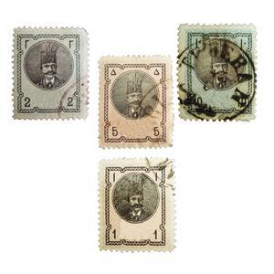 تمبر یادگاری مدل ناصرالدین شاه کد 88 مجموعه 4 عددی