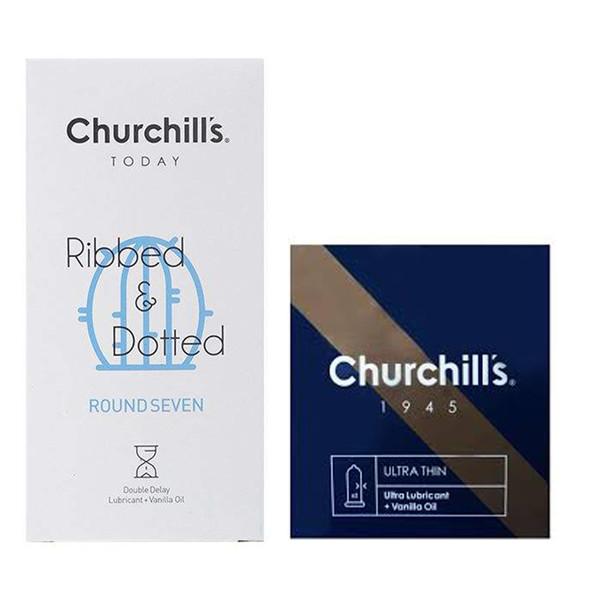 کاندوم چرچیلز مدل Round Seven بسته 12 عددی به همراه کاندوم مدل Ultra Lubricant بسته 3 عددی
