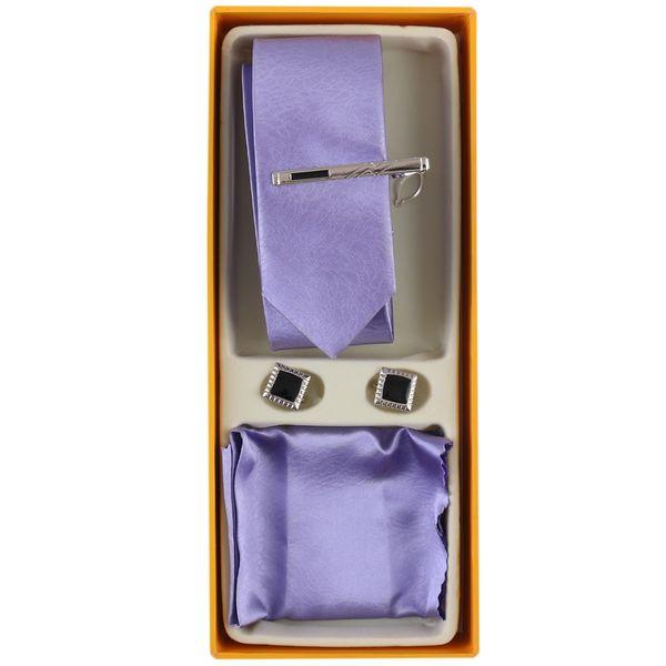 ست کراوات و دستمال جیب و دکمه سردست مردانه فرانکو فروزی مدل F-102092