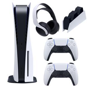 مجموعه کنسول بازی سونی مدل PlayStation 5 Drive ظرفیت 825 گیگابایت به همراه هدست و پایه شارژر