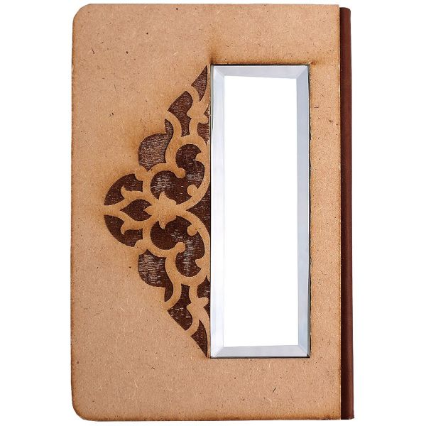 دفتر پرسام کد AM-2131  جلد چوبی آینه دار