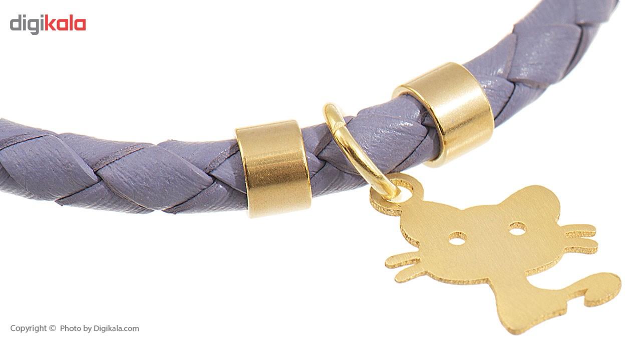 دستبند کودکانه طلا 18 عیار رزا مدل BW108
