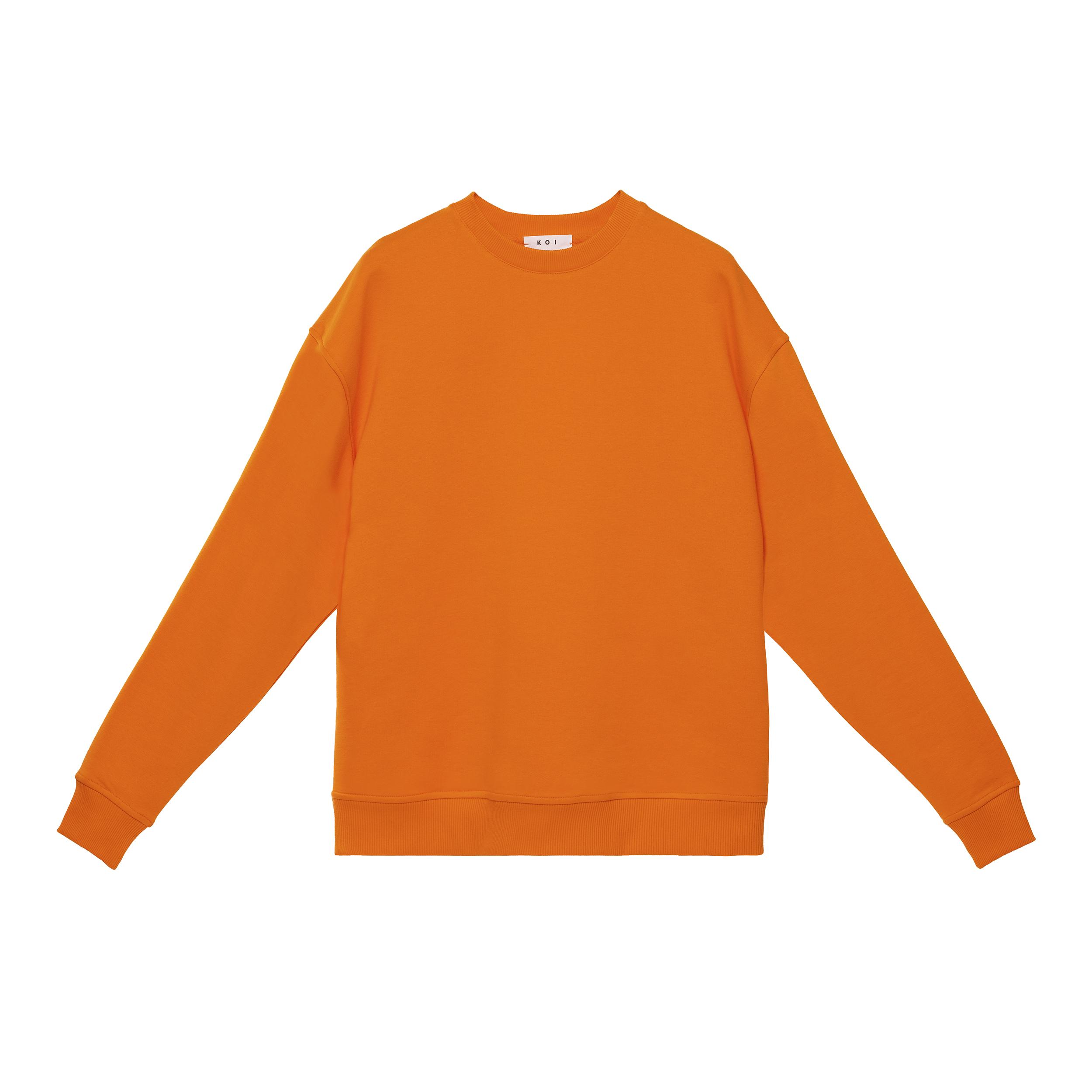 سویشرت مردانه کوی مدل 402 رنگ نارنجی