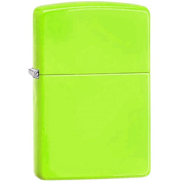 فندک زیپو مدل Neon Yellow کد 28887