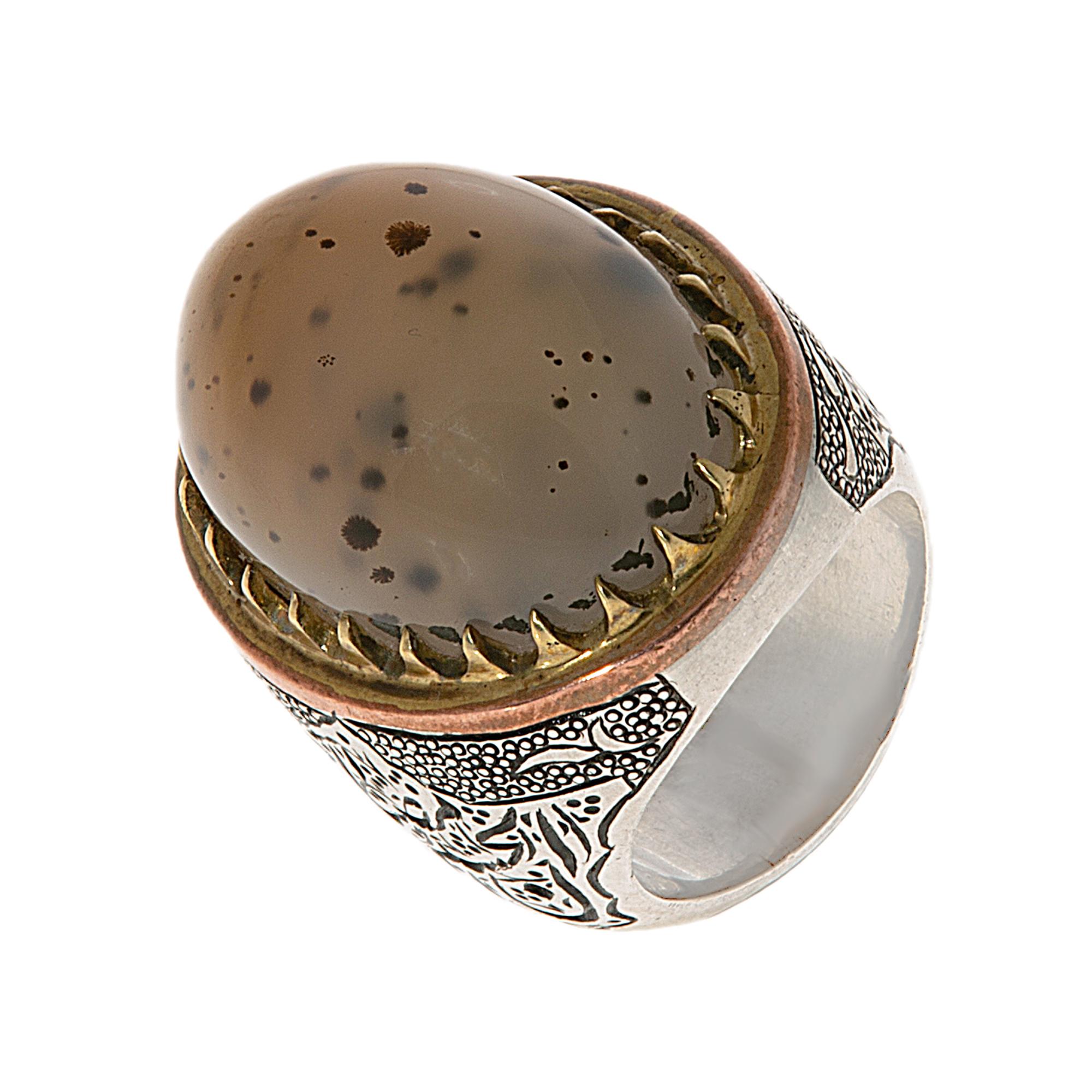 انگشتر نقره مردانه مدل 141401