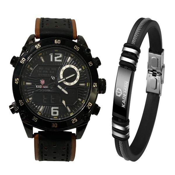 ست ساعت مچی دیجیتال و دستبند مردانه کیدمن مدل K820