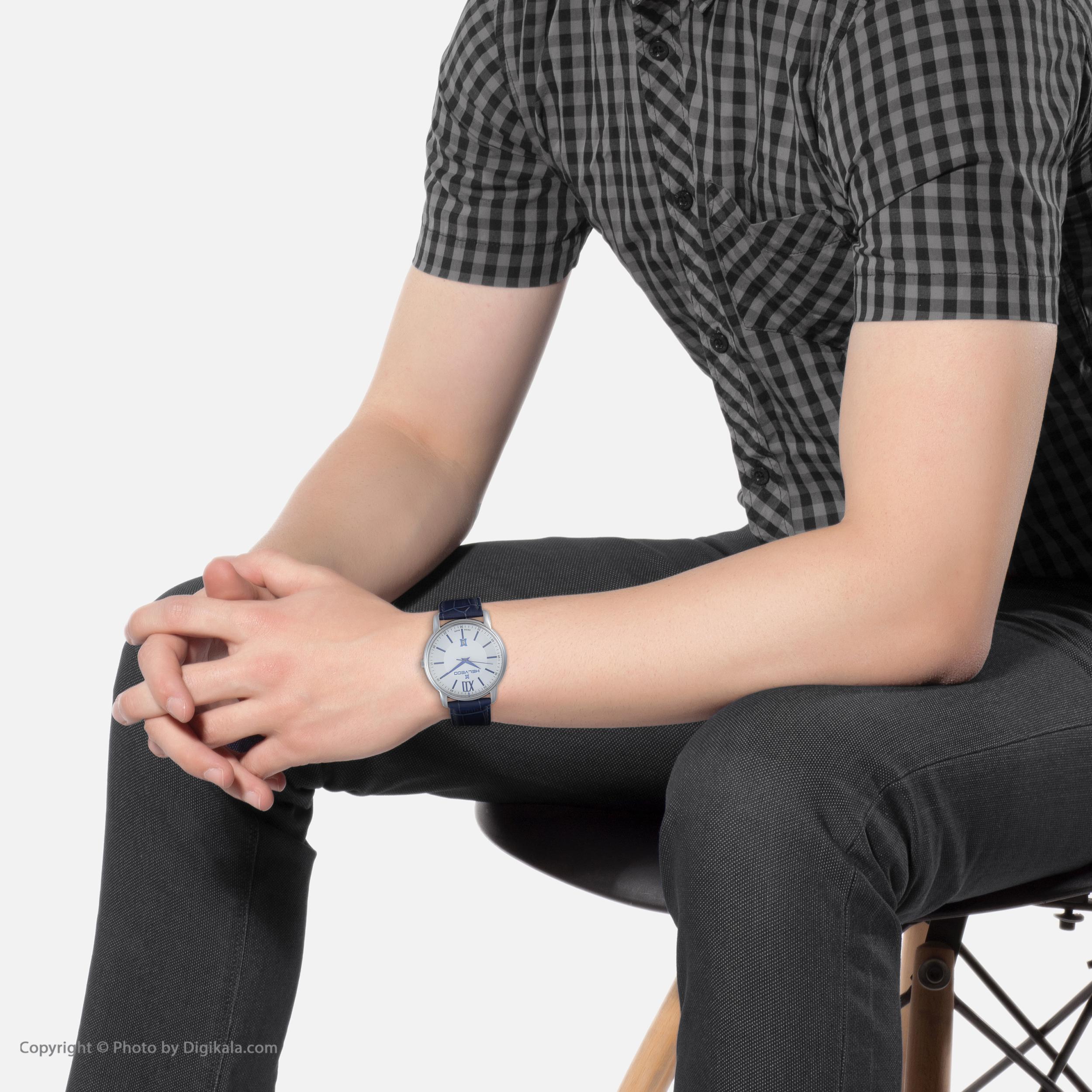 ساعت مچی عقربه ای مردانه هلویکو مدل H14641 AD