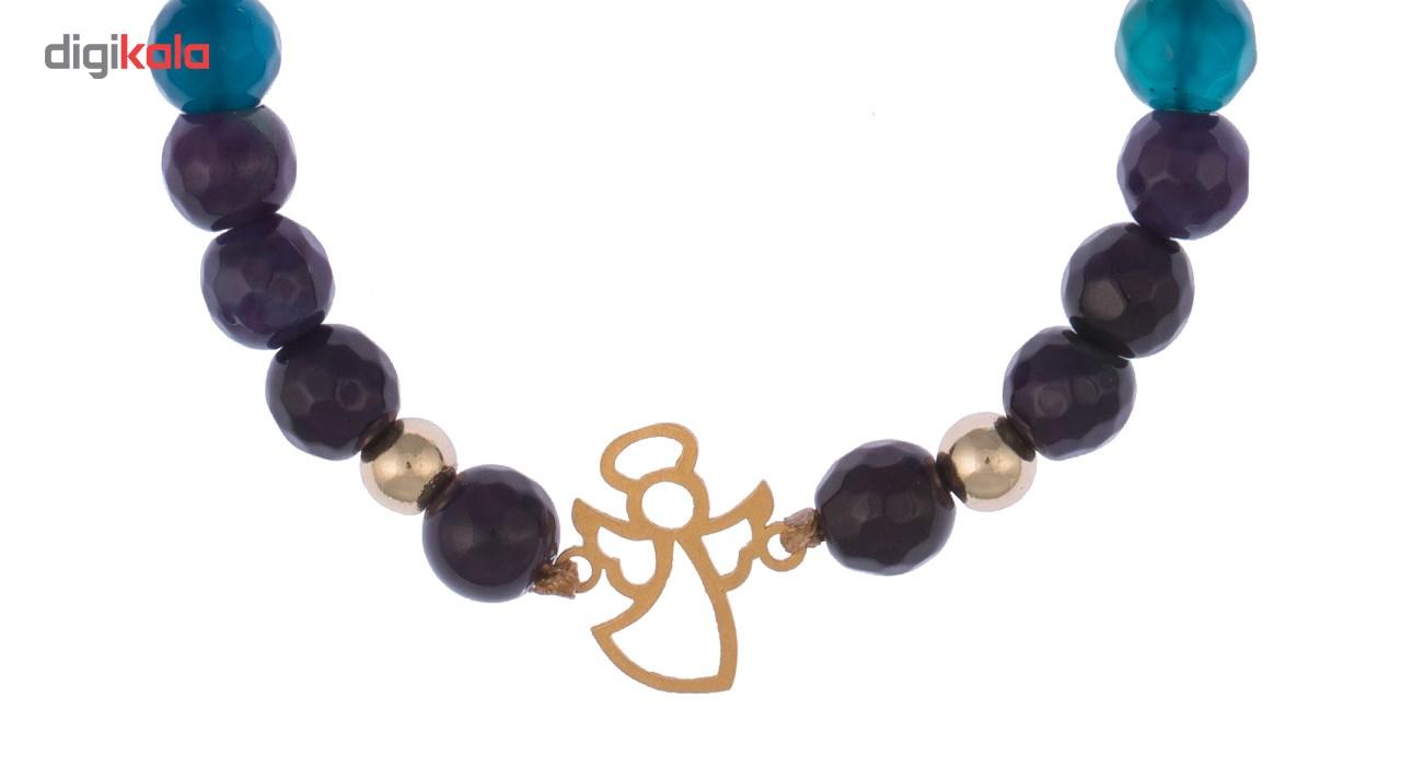 دستبند طلا 18 عیار گرامی گالری مدل B078 -  - 3