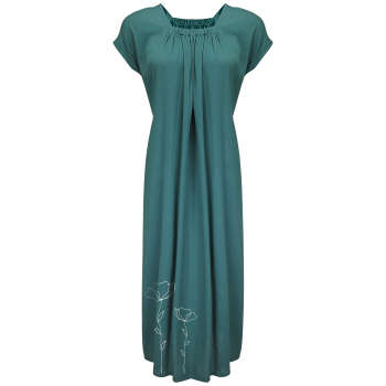 پیراهن زنانه مدل BR055 رنگ سبز یشمی