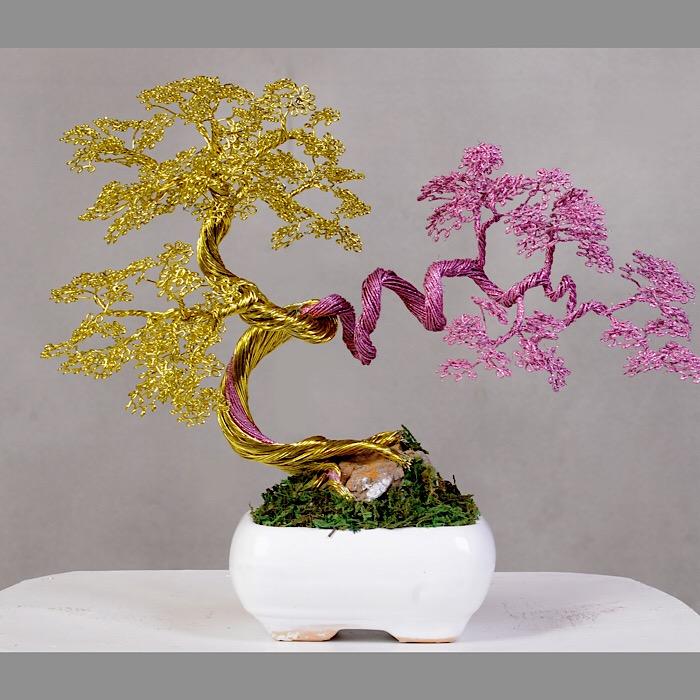 خرید                      گلدان تزئینی مدل بنسای کد 02
