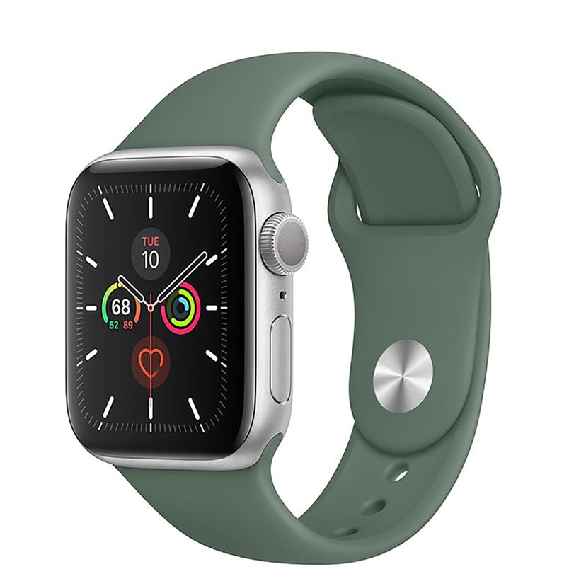 ساعت هوشمند اپل واچ سری 5 مدل 40mm Silver Aluminum Case With green Sport Band