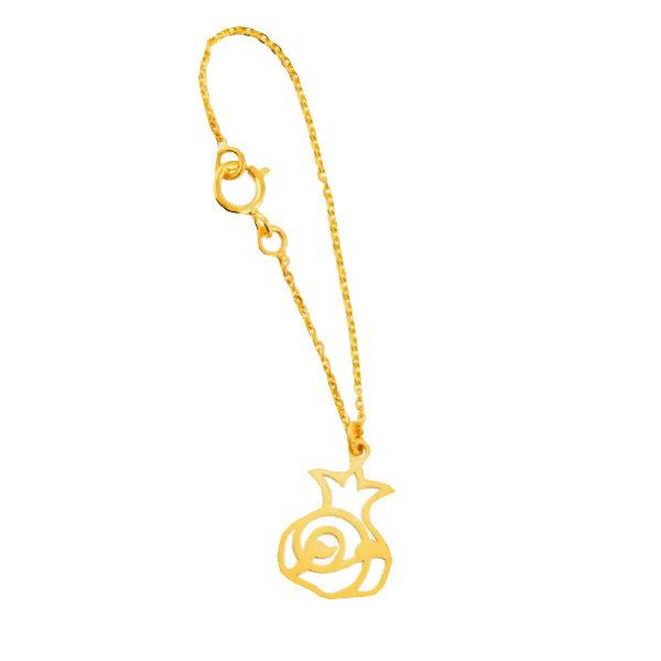 آویز ساعت طلا 18 عیار زنانه آمانژ طرح انار کد 12538D9182