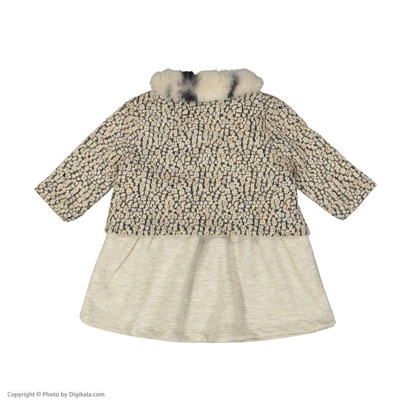 ست کت و پیراهن نوزادی دخترانه فیورلا مدل 20526