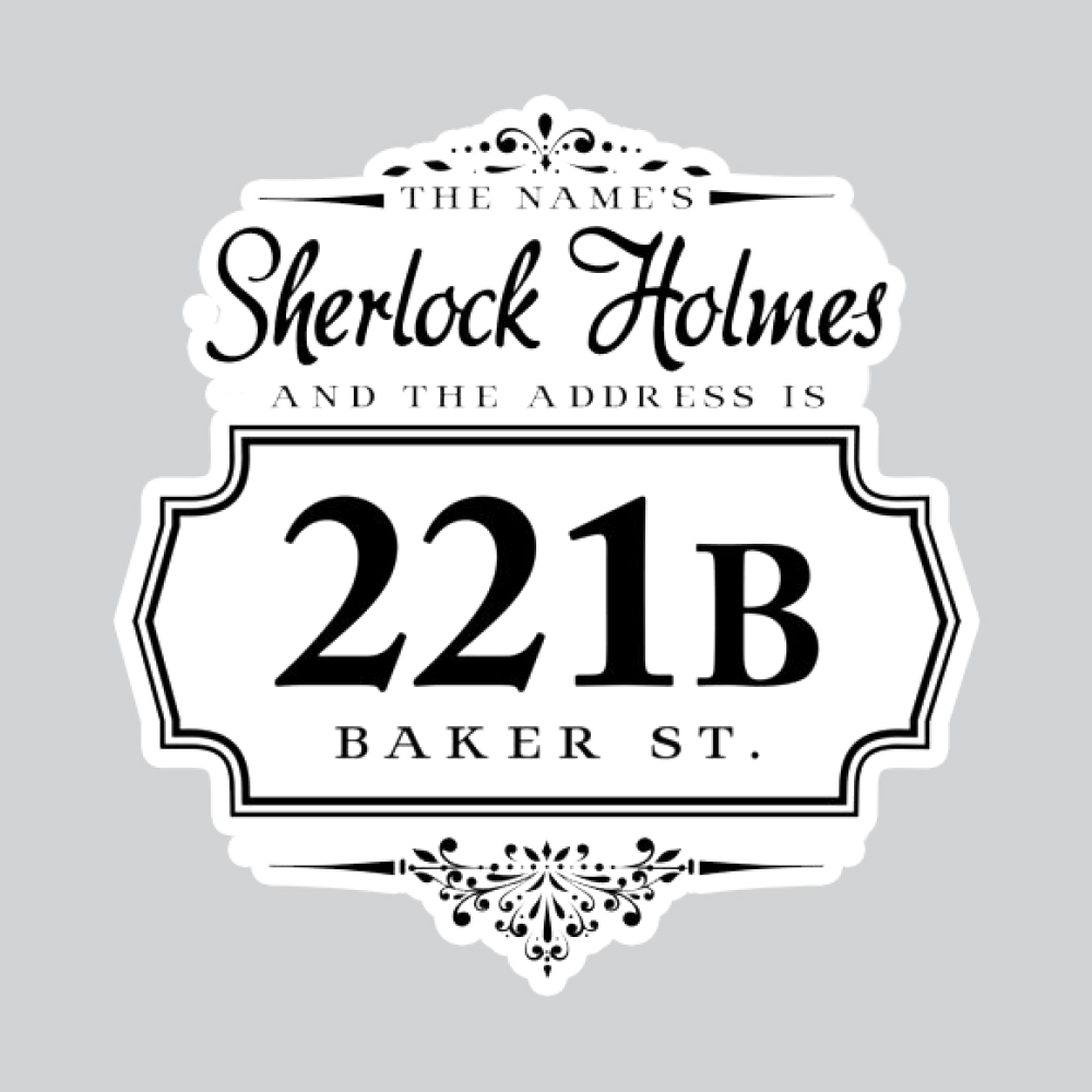 بررسی و {خرید با تخفیف} استیکر لپ تاپ پیکسل میکسل مدل شرلوک هملز سر در خانه 221B اصل