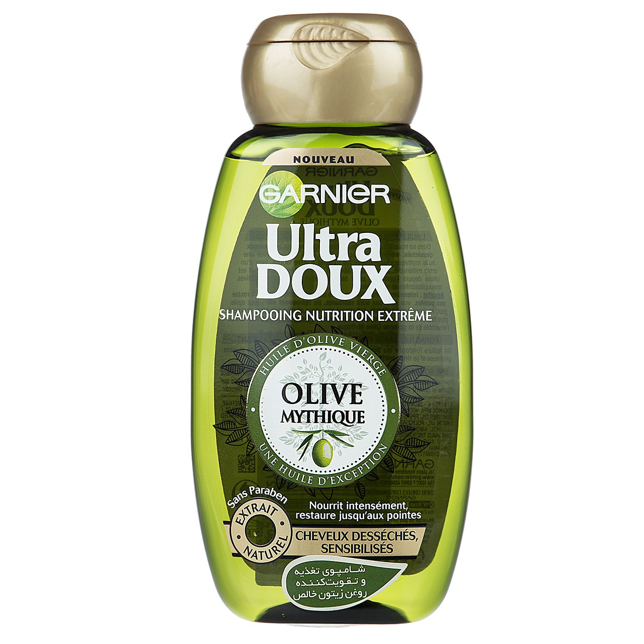 قیمت شامپو تقویت کننده و احیا کننده گارنیه سری Ultra Doux مدل Mythic Olive حجم 250 میلی لیتر