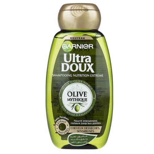 شامپو تقویت کننده و احیا کننده گارنیه سری Ultra Doux مدل Mythic Olive حجم 250 میلی لیتر