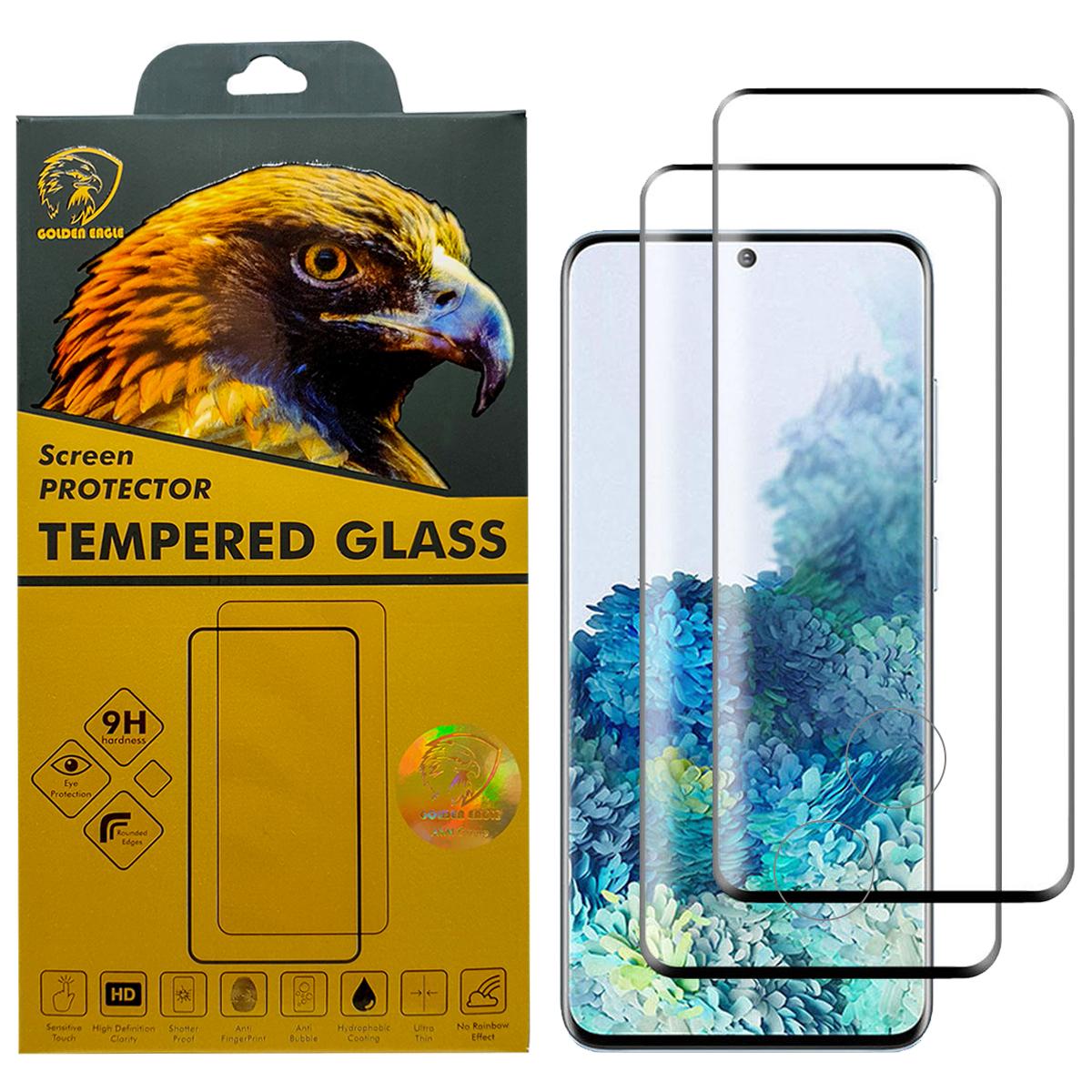 محافظ صفحه نمایش گلدن ایگل مدل DFC-X2 مناسب برای گوشی موبایل سامسونگ Galaxy S20 Plus بسته دو عددی