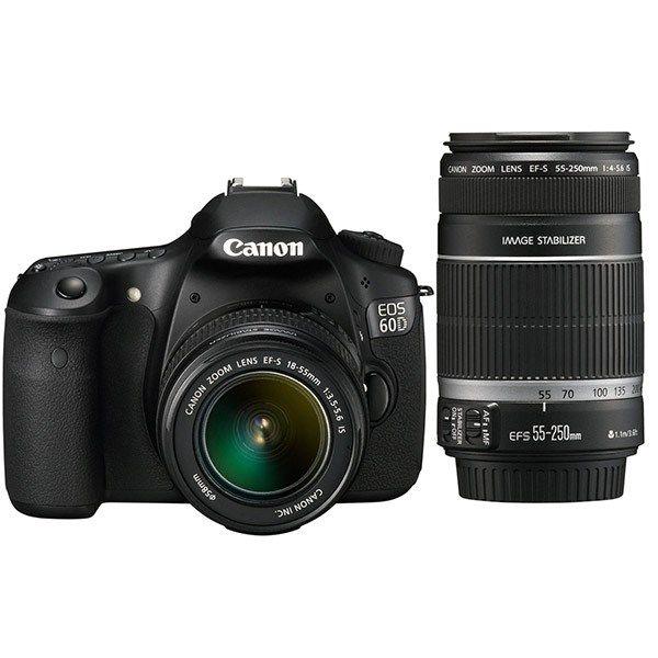 دوربین دیجیتال کانن ای او اس 60 دی کیت دو لنز 18-55 و 55-250