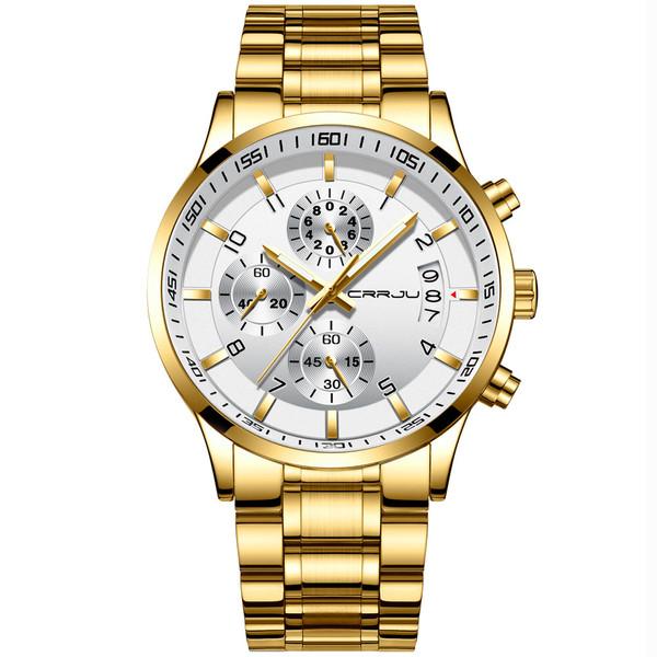 ساعت مچی عقربهای مردانه سی آر آر جی یو مدل gold2214a
