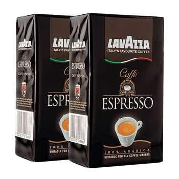 بسته قهوه لاواتزا مدل Espresso مجموعه 2 عددی