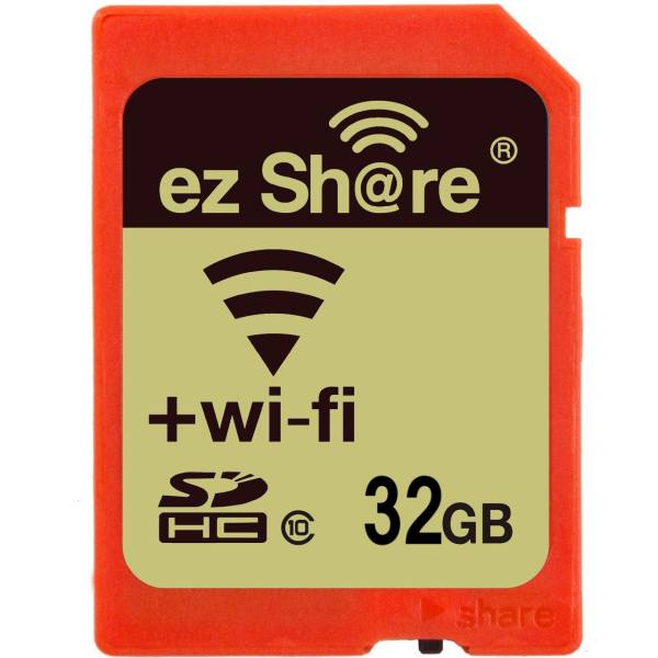 کارت حافظه SDHC ایزی شر کلاس 10 ظرفیت 32 گیگابایت همراه با Wifi