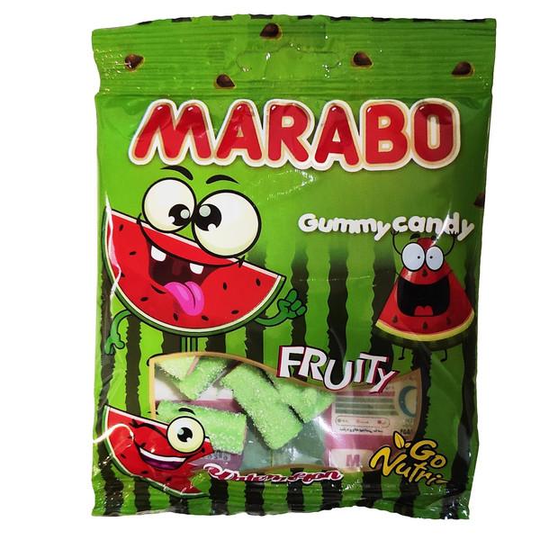 پاستیل شکری لقمه ای با طعم هندوانه مارابو - 50 گرم