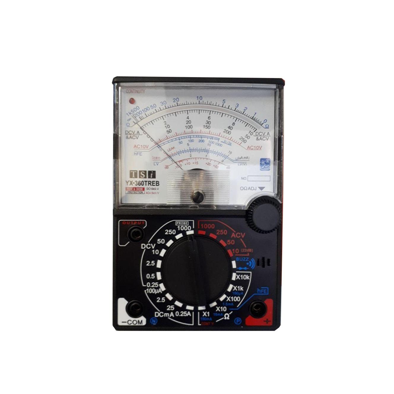 مولتی متر آنالوگ تی اس ای مدل YX-360TREB