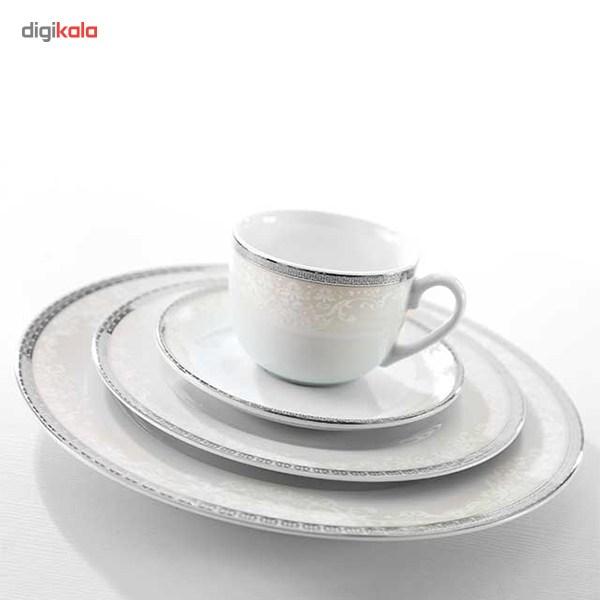 سرویس غذاخوری 102 پارچه چینی زرین ایران سری ایتالیا اف مدل Riva درجه عالی