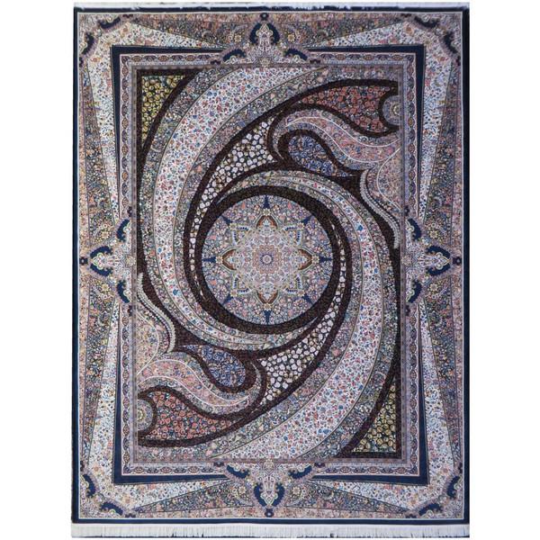 فرش ماشینی پارسه کدFSM109 زمینه سورمه ای