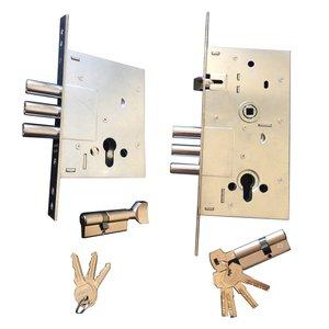 قفل و سیلندر رز مدل 252-257 مجموعه ۴ عددی